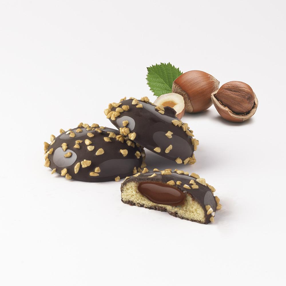 lískové ořechy tmavé pralinky